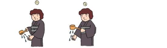 神式葬 手水の儀2